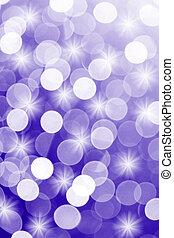 Purple-blue defocused lights usefu