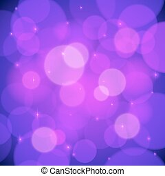 Purple bokeh effect vector abstract background