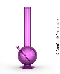Purple bong isolated on white background