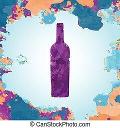 Purple Bottle of Wine Banner