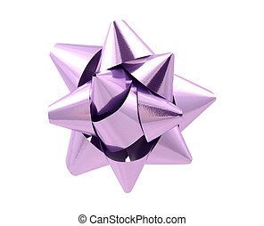 Purple Bow - Clipping Path