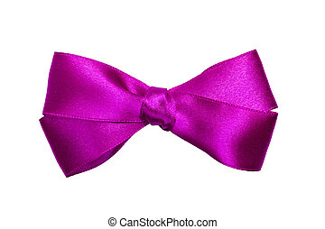 purple bow from ribbon