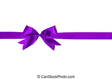 purple bow isolated