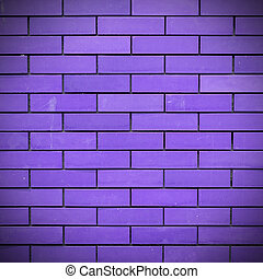 Purple Brick wall texture and background
