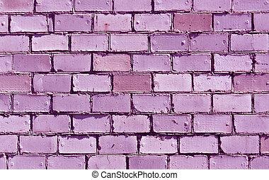 Purple brick wall texture.