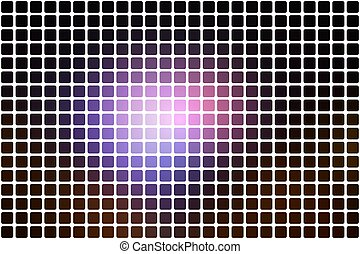 Purple brown black abstract rounded mosaic background over white