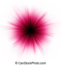 Purple bursting star isolated on wnite. EPS 8
