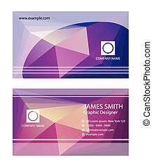 Purple business card templates