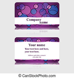 Purple Business Card with Colorful Circles