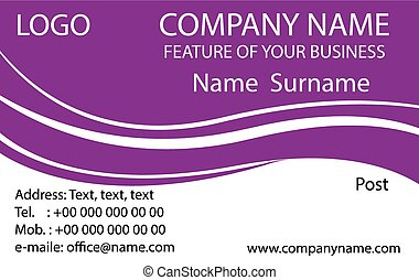 Purple Business Cards Background