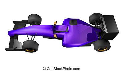 Purple car f1