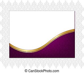 Purple celebration paper