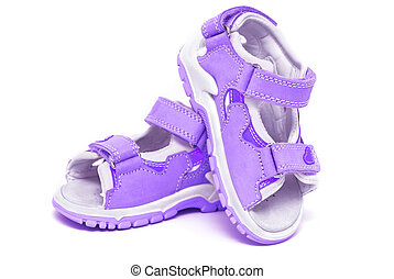Purple child's sandals