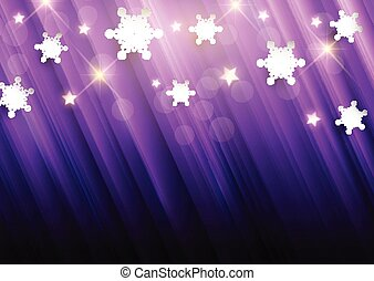purple christmas background with snowflakes and stars 2010