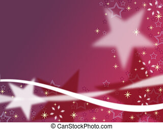 Purple Christmas background with st