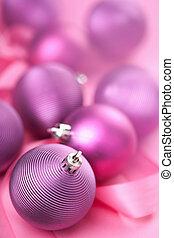 purple christmas balls