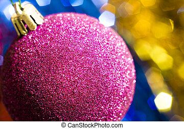 Purple christmas decoration bauble