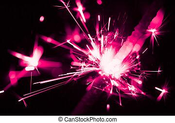 purple christmas sparkler