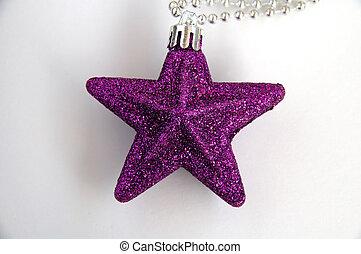 Purple christmas sta