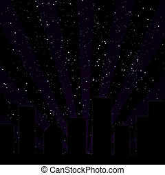 Purple City Skyline