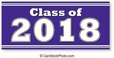 Purple Class of 2018 Banner - Purple Graduating Class of...
