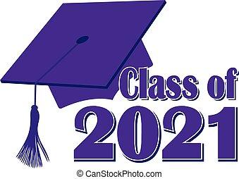 Purple Class of 2021 Graduation Cap