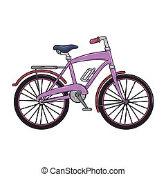 purple classic bicycle