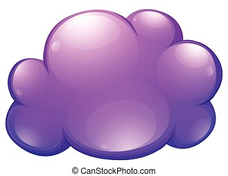 Purple cloud on white