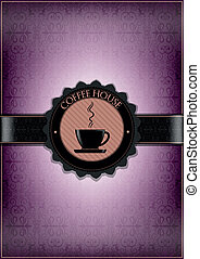 Purple coffee house desing