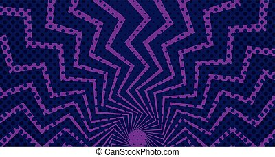 purple color sunburst pop art background