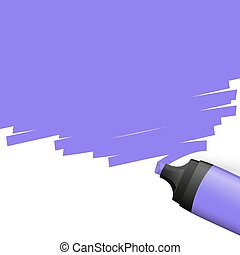 colored highlighter with marking - purple colored ...