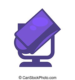 Purple colored searchlight - Vector illustration of smple...