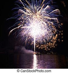 Purple colorful fireworks