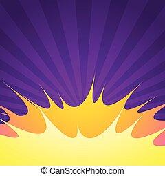 purple comic empty background with blast