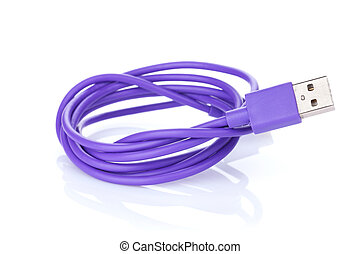 Purple computer cable