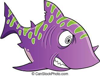 Purple Crazy Shark Vector Art - Purple Crazy Shark Vector ...