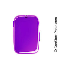 purple device isolated on a white background