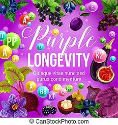 Purple diet and longevity berry and fruit food - Purple diet...