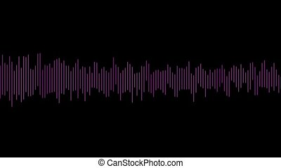 Purple digital audio lines