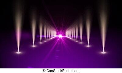 Purple digital walkway