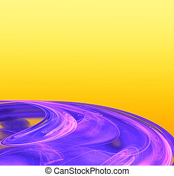 Purple disc - Computer generated fractal of a purple disc on...