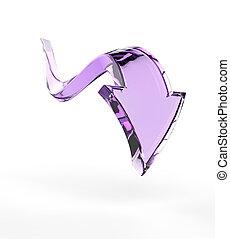 Purple Down Arrow