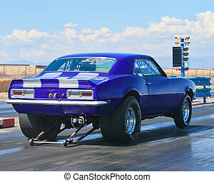 Race Car - Purple Drag Race Car