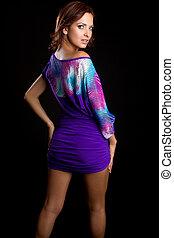 Purple Dress Woman