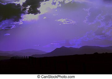 Purple Dusk - Dusk in southern Colorado on a stormy evening