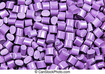 purple dyed polymer resin