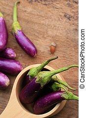 Purple eggplants