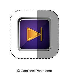 purple emblem forward button