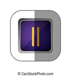 purple emblem pause button