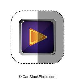 purple emblem play button